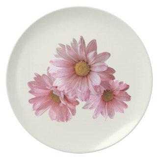 Margaritas rosadas platos