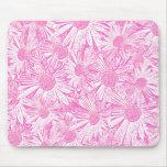 Margaritas rosadas tapetes de ratones