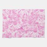 Margaritas rosadas toalla de cocina