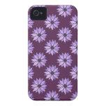Margaritas rosadas y violetas iPhone 4 carcasas