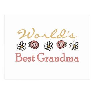 Margaritas y abuela del mundo de los rosas la postal
