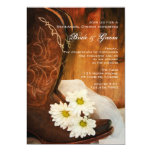 Margaritas y botas de vaquero que casan la cena invitación 12,7 x 17,8 cm