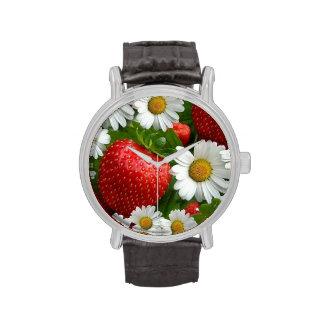 Margaritas y fresas relojes de mano