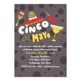 Margaritas y más invitación de Cinco de Mayo