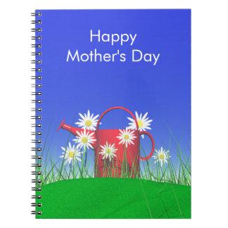 Margaritas y regadera del día de madres libreta