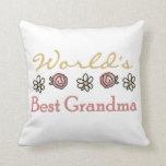 Margaritas y regalos de la abuela del mundo de los almohadas