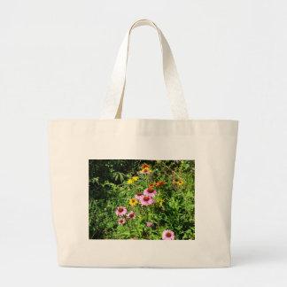 Margaritas y Wildflowers rosados Bolsas De Mano