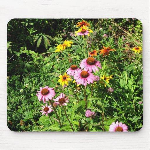 Margaritas y Wildflowers rosados Alfombrillas De Ratones