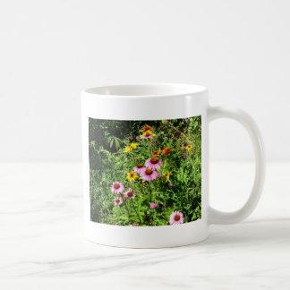 Margaritas y Wildflowers rosados Tazas De Café