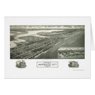 Margate City NJ Panoramic Map - 1925 Greeting Cards