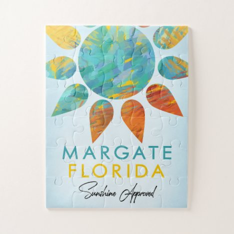 Margate Florida Sunshine Travel Jigsaw Puzzle