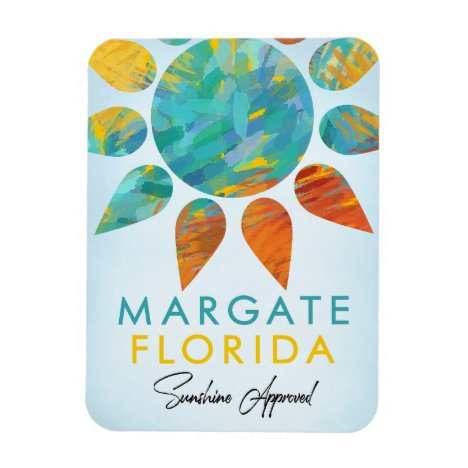 Margate Florida Sunshine Travel Magnet