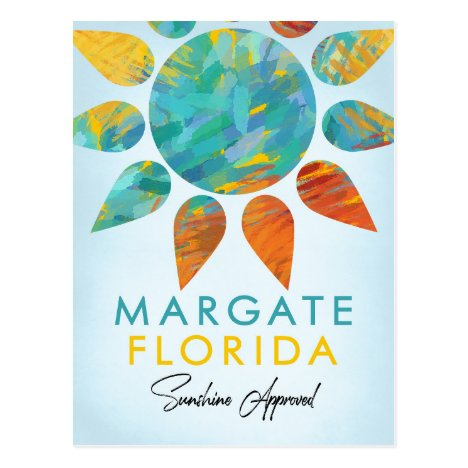 Margate Florida Sunshine Travel Postcard