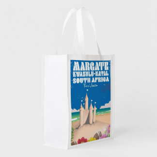 Margate, KwaZulu-Natal South Africa travel print Reusable Grocery Bag