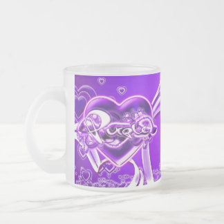 Margaux 10 Oz Frosted Glass Coffee Mug