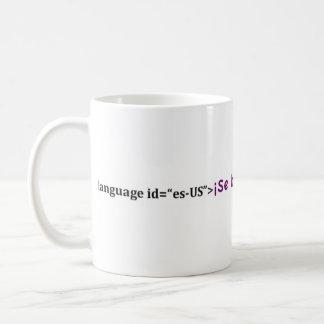 margen de beneficio del español del habla del SE Tazas De Café