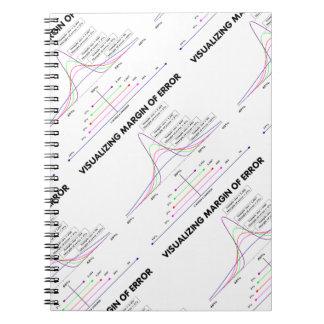 Margen de error de visualización libro de apuntes con espiral