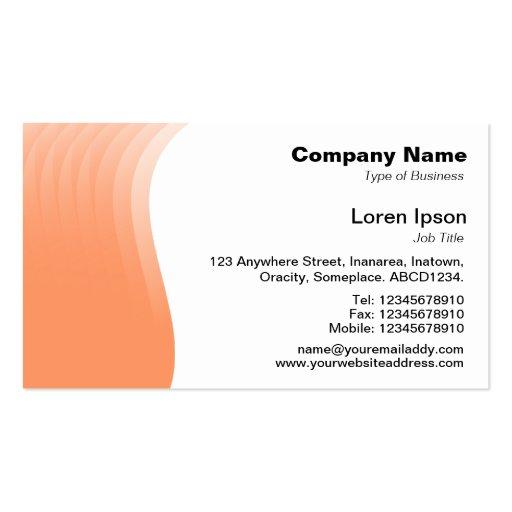 Margen de la onda - melocotón tarjetas de negocios
