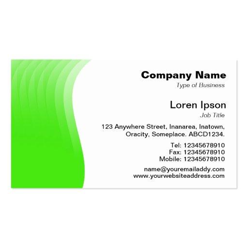Margen de la onda - verde tarjetas de visita