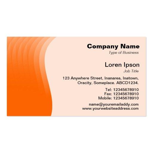 Margen v2 - naranja de la onda tarjetas de visita