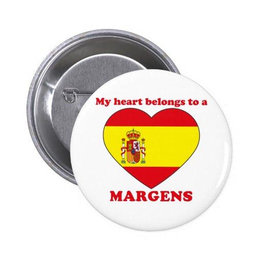 Margens Pin Redondo De 2 Pulgadas