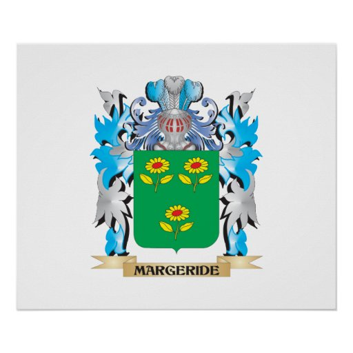 Margeride Coat of Arms - Family Crest Poster