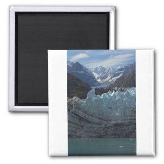 Margerie Glacier Alaska 2 Inch Square Magnet