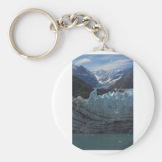 Margerie Glacier Alaska Basic Round Button Keychain