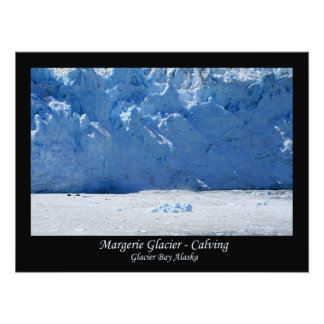Margerie Glacier Calving/Glacier Bay Alaska Photo Print