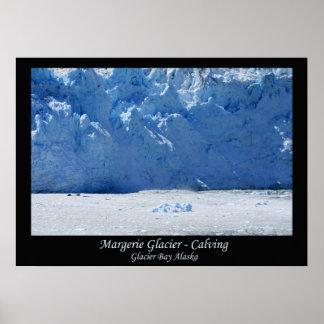 Margerie Glacier Calving/Glacier Bay Alaska Poster