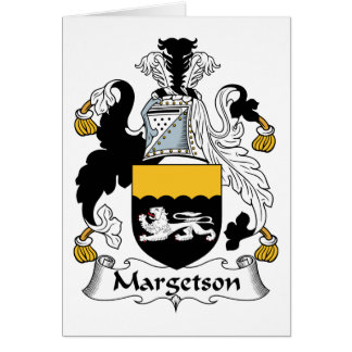 Margetson Family Crest Card