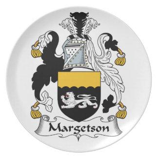 Margetson Family Crest Dinner Plate