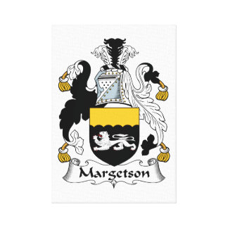 Margetson Family Crest Gallery Wrap Canvas