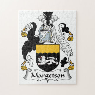 Margetson Family Crest Jigsaw Puzzle