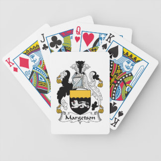 Margetson Family Crest Playing Cards