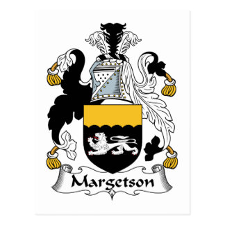 Margetson Family Crest Postcard