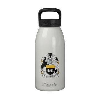 Margetson Family Crest Reusable Water Bottles