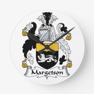 Margetson Family Crest Round Wall Clocks