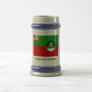 Margibi County Flag with Name Beer Stein