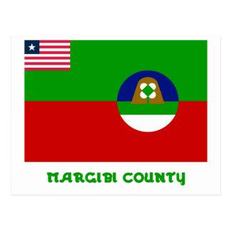Margibi County Flag with Name Postcard