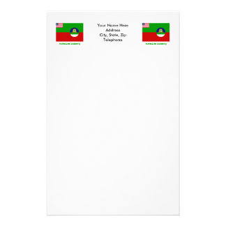 Margibi County Flag with Name Stationery Paper