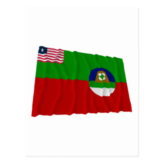 Margibi County Waving Flag Postcard