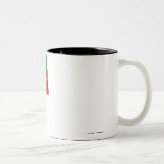 Margibi County Waving Flag Two-Tone Coffee Mug