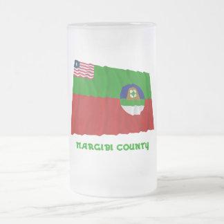 Margibi County Waving Flag with Name Mugs
