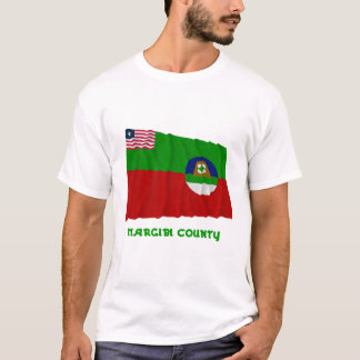 Margibi County Waving Flag with Name T-Shirt