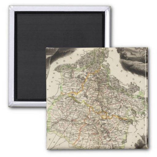 Margin illustrations 2 inch square magnet
