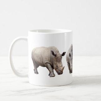 Margin rhinoceros coffee mug
