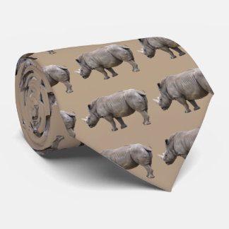 Margin rhinoceros neck tie
