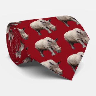 Margin rhinoceros tie