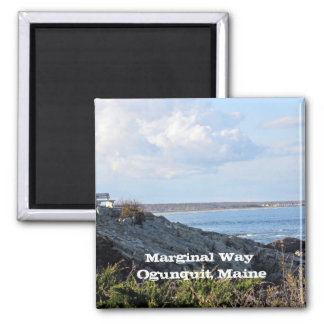 Marginal Way, Ogunquit, Maine 2 Inch Square Magnet
